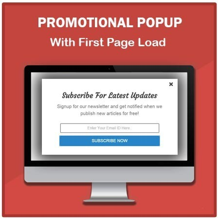 Promotional popup with social media user registration