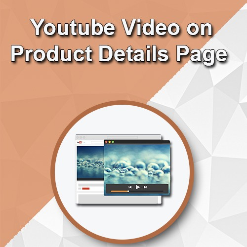 youtube video on product details page