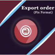 Export order in fixed format